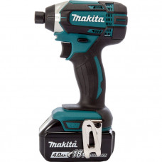 Гайковерт Makita аккумуляторный ударный LXT, 18В, 4Аг х 2шт, DC18RC, Makpac, (DTD152RMJ)