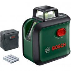 Лазерный нивелир BOSCH AdvancedLevel 360 Basic, 24м, зеленый луч, наклон (0.603.663.B03)