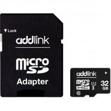 Карта памяти AddLink 32GB microSDHC class 10 UHS-I U1 (ad32GBMSH310A)