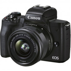 Цифровой фотоаппарат Canon EOS M50 Mk2 + 15-45 IS STM Kit Black (4728C043)