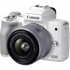 Цифровой фотоаппарат Canon EOS M50 Mk2 + 15-45 IS STM Kit White (4729C028)