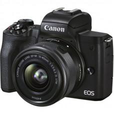 Цифровой фотоаппарат Canon EOS M50 Mk2 + 15-45 IS STM Lifestream Kit Black (4728C059)