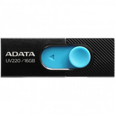 USB флеш накопитель ADATA 16GB UV220 Black/Blue USB 2.0 (AUV220-16G-RBKBL)