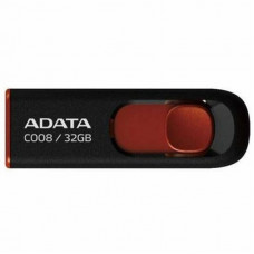 USB флеш накопитель ADATA 32Gb C008 black+red (AC008-32G-RKD)