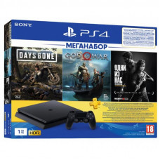 Игровая консоль SONY PlayStation 4 1ТВ в комплекте с 3 играми (9382102)