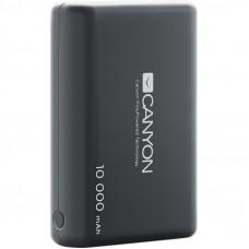 Батарея универсальная CANYON 10000mAh, Input 5V/2.1A, Output 5V/2.1A(Max), Black (CNS-CPBP10B)