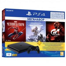Игровая консоль SONY PlayStation 4 1ТВ в комплекте с 3 играми (9391401)
