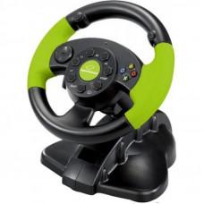 Руль Esperanza PC/PS3/XBOX 360 Black-Green (EG104)