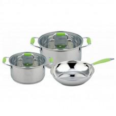 Набор посуды Con Brio 5 предметов 3л, 6,2л + сковорода (CB-1149)