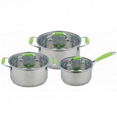 Набор посуды Con Brio 6 предметов 1,6л, 3л, 4,5л (CB-1150)