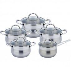 Набор посуды Con Brio 10 предметов 2л, 2,7л, 3,7л, 4,9л, 6,3л (СВ-1152)