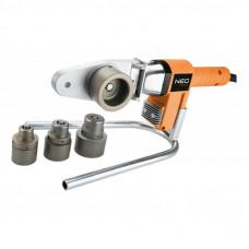 Паяльник электрический Neo Tools для пластиковы труб 650 Вт, 4 насадки, PTFE (21-001)