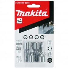 Набор инструментов Makita насадок магнитных дюймовых, 4 шт. (B-38853)