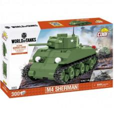 Конструктор Cobi Танк M4 Шерман, 300 деталей (COBI-3063)